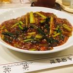 梅林 - 青菜からし焼きそば ¥890]税込) 少なく見えるけど結構なボリューム