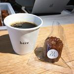 here - ブレンドコーヒー400円