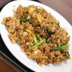 Kantonryouriajisaikan - 豚角煮炒飯+タンタン麺(780円)2019年8月