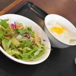 広東料理 味彩館 - 豚角煮炒飯+タンタン麺(780円)2019年8月