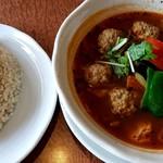 曼荼羅 - 料理写真:ラムボール。ご飯は玄米にしました♪