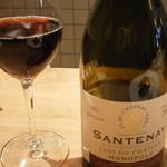 シャントレル - 相方の赤ワイングラス
