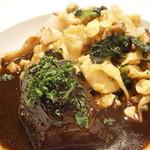 シャントレル - 相方のメイン 牛ホホ肉の煮込み アルザスパスタ添え