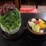 岡女堂菓子司舗 - 宇治金時と白玉みつ豆