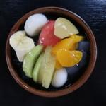 岡女堂菓子司舗 - 白玉みつ豆:400円