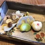 Chimatsushima - ゆりね、そら豆、山うど、ズッキーニ、みょうが、辛子蓮根