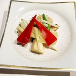 115672795 - 海老と季節野菜の岩塩炒め