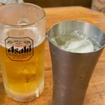スタミナ苑 - ビールとハイボール