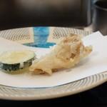 割烹 天ぷら 三太郎 - ズッキーニ&舞茸