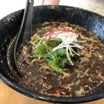 担々麺 蜀香 - 黒胡麻担々麺(790円)・・黒胡麻タップリの濃厚スープ。胡麻の風味が口の中に広がり美味しいと。