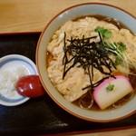 中の茶屋 - 玉子とじ(そば)