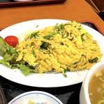 十八番 - ニラ玉定食(850円)