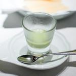 ジャッジョーロ銀座 - 枝豆の冷製ポタージュ