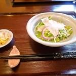 11570236 - 海老と野菜のかき揚げセット「サラダ」