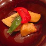ピッツェリア ロマーナ ジャニコロ - セットの前菜、本日の野菜の窯焼き