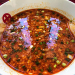 日和田製麺所 - 辛みそつけ汁にチャーシュー