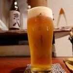 手打そば 行徳 慈庵 - グラスビール