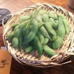とり鉄 - 熱々枝豆  421円