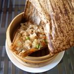 chinese cafe 茶林香 - 自家製中華ちまき 紐解き後