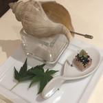 レストラン ひらまつ - 北海道産ツブ貝とフランス産フォアグラのテリーヌ