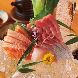 ◎産地直送の鮮魚も楽しめます!