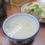蘭州料理 ザムザムの泉 - 冷製餡かけについているスープ