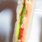 トミー コージー - 日替サンドイッチ フレッシュ&ポテト 280円(税込)のアップ【2018年9月】