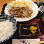 みなも - 豚ロースしょうが焼き定食@1,080円