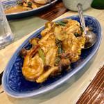 旅人シェフのタイ食堂 KHAO -  クンパッポンカリー(エビのカレースパイス卵炒め)