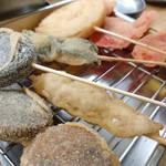 じゃじゃ馬 - 料理写真:串揚、ソース二度漬け禁止。
