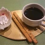 田中マネの食堂 - ランチ(火ようび):コーヒー、一口デザート