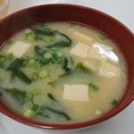天ぷら定食ふじしま - 味噌汁