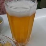 天ぷら定食ふじしま - グラスビール 350円