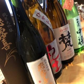お酒のこだわり!!全国の日本酒を厳選して入荷!!
