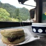 旅館栄吉 - 料理写真:90円と0円のお茶な絵図