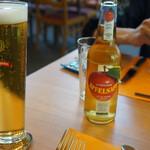 Hotel Restaurant Heidihof - エーデルスペッツ,EDELSPEZ(生ビール)。ホテル・レストラン・ハイジホフ(Heidihof,マイエンフェルト)食彩品館.jp撮影