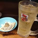 立ち呑み きくのこ - 生レモンサワー(メガジョッキ)    550円