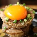 寅次郎 - えのきステーキ 焦がしバター醤油