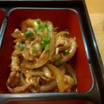 115778087 - 豚の生姜焼き定食の豚の生姜焼き
