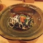 炊き餃子・手羽先 オクムラ - 虎フグ皮ポン酢