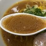 もち豚専門店 札幌らーめん 綺羅拉 - 醤油ラーメンのスープ