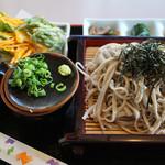 白糸庵 - おおもりプラス天ぷら(計1100円)