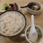 牛たん炭焼 利久 - 【2019.1】ランチパスポートのメニュー:牛タン焼きと牛タンの仙台味噌煮込み定食
