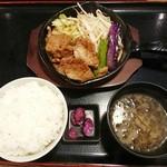 きたみなと - ラム肉と野菜の炒め定食 1,230円