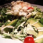 点 - タラバカニとアボカドのサラダ