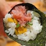 新宿栄寿司 - トロたくの手巻き