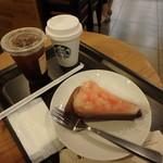 スターバックス・コーヒー - 豆乳ラテS¥390、アイスカフェ アメリカーノS¥310、ビーチミルクタルト¥440