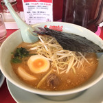 ラーメン山岡家 - 特製味噌ネギらーめんにJAF味玉¥840