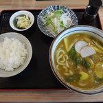 優 - カレーうどんセット 980円