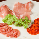サルディーナ - 料理写真:生ハムとサラミの盛り合わせ